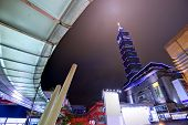 TAIPEI, TAIWAN - JANUARY 18: Cityscape of Taipei 101 viewed from the Xinyi District January 18, 2013