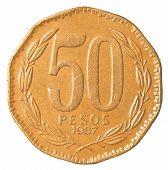50 Chilean Pesos Coin