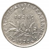 One French Franc Coin