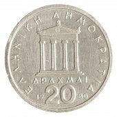 20 Old Greek Drachmas Coin