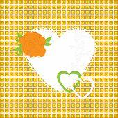 Ilustração em vetor de coração lindo ícone. Cartão de dia dos namorados, convite ou parabéns.
