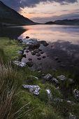 Stunning Mountain And Lake Sunrise Reflections Beautiful Landscape