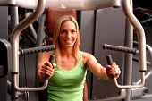 Beautiful Woman In Fitness Gym