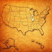 Illinois On Map Of Usa