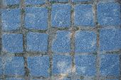 Blue Typical 'calçada' Pavement