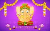 stock photo of ganpati  - illustration of statue of Lord Ganesha made of paper for Ganesh Chaturthi - JPG