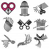 Barbershop And Hair Icons Set