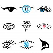 Eye Hand Drawn Icons
