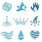 Water Hand Drawn Icons
