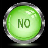 No. Internet button. Vector illustration.