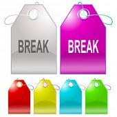Break. Raster tags. Vector version is in my portfolio.