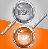 Break. Raster magnifying glass. Vector version is in my portfolio.