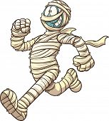 picture of mummy  - Cartoon running mummy - JPG