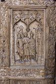 Detail Of The Door Of Leon Cathedral, Spain