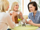 Group Of Women Meeting In Cafe