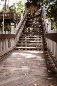 Wooden walkway stairs