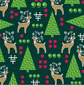 Whimsical background Christmas pattern