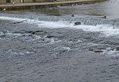Weir on a River.