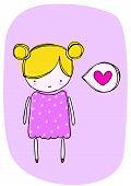 Little girl in love