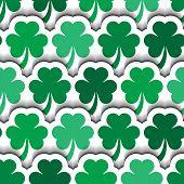 St Patrick's Layered Shamrocks Background