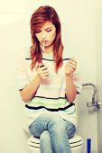 picture of teen smoking  - Teen girl caught on smoking in bathroom - JPG