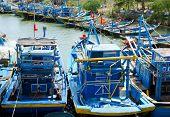 Resting Fishing Boats In Vietnam