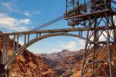 The Highway Bridge Over The Hoover Dam