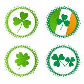 vector collection of st. Patric's badges