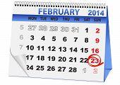 calendar for 23 February