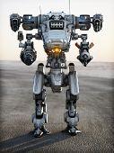 Robot Futuristic Mech weapon
