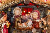 foto of nativity scene  - Beautiful nativity scene with simplified nativity characters - JPG