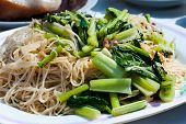 foto of chinese wok  - Stir fried noodles Without meat  - JPG