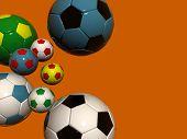 Orange Bckg Football Balls