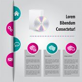 Abstract Website Template Design With Color Peels