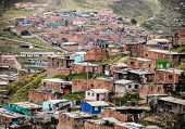 stock photo of bolivar  - View of Ciudad Bolivar in the southwestern part of Bogota - JPG