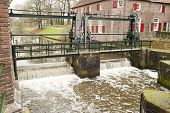 Sluice With Running Water Spill