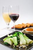 Chinese stijl stir fry plantaardige
