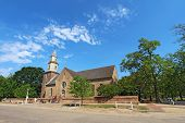 Bruton Parish Church On The Edge Of Colonial Williamsburg, Virginia