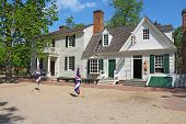 Mary Dickinson Shop In The Center Of Colonial Williamsburg, Virginia