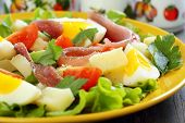 Colorful Salad With Anchovies.