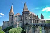 stock photo of dracula  - The medieval castle of Corvin family - JPG
