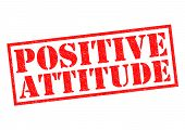 stock photo of pma  - POSITIVE ATTITUDE red Rubber Stamp over a white background - JPG