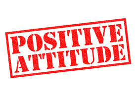 image of pma  - POSITIVE ATTITUDE red Rubber Stamp over a white background - JPG