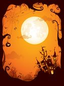 stock photo of halloween  - Halloween border for design - JPG