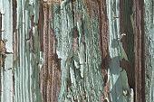 Paint-peeling Wooden Old Weathered Door Texture Detail