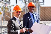 two electrical managers in power plant