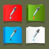 Icon medicine dropper with a drop vector