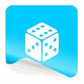 game blue sticker icon