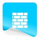 firewall blue sticker icon