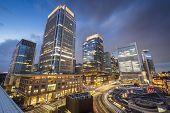 Tokyo, Japan at Marunouchi business district.